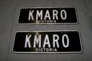 Camaro number plates  ' KMARO '