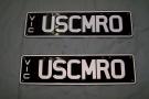 Camaro number plates ' USCMRO '
