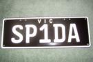 SP1DA number plate