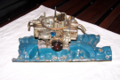 Ford 289-302W 4 Barrel Manifold w 650 Dble Pumper